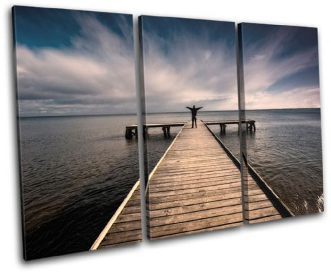 Pier Jetty Lake Sunset Seascape - 13-1827(00B)-TR32-LO